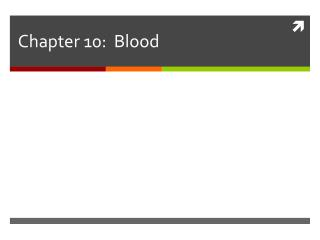 Chapter 10:  Blood