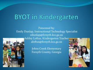 BYOT in Kindergarten