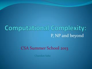Computational Complexity: