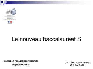 Le nouveau baccalauréat S