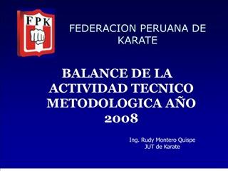 BALANCE DE LA ACTIVIDAD TECNICO METODOLOGICA A O 2008