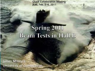 Spring 2011  Beam Tests in Hall B