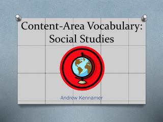 Content-Area Vocabulary:  Social Studies