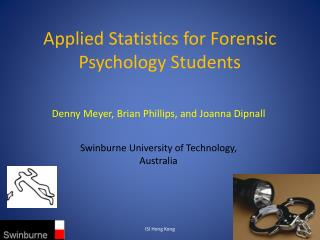 Applied Statistics for Forensic Psychology  Students