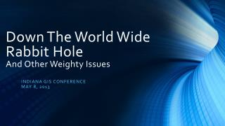 Down The World Wide  Rabbit Hole  And Other Weighty Issues