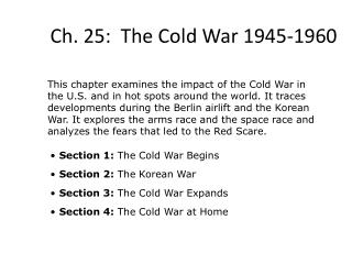 Ch. 25:  The Cold War 1945-1960