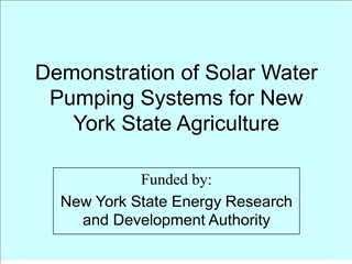 Demonstration of Solar Water Pumping Systems for New York State Agriculture