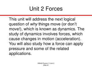 Unit 2 Forces
