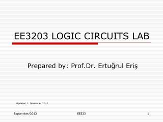EE3203 LOGIC CIRCUITS LAB