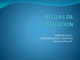 REGLAS DE PUNTUACIÓN
