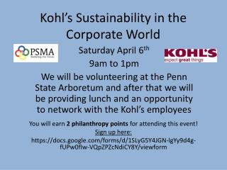 Kohl's Sustainability in the Corporate World