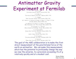 Antimatter Gravity Experiment at Fermilab