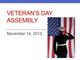 Veteran's Day Assembly