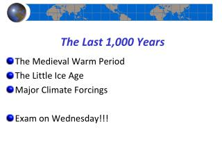 The Last 1,000 Years