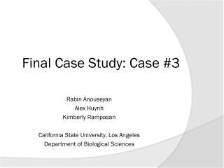 Final Case Study: Case #3