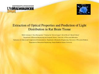 Extraction of Optical Properties and Prediction of Light Distribution in Rat Brain Tissue