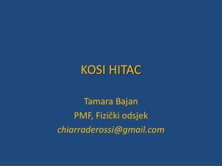 KOSI HITAC