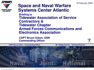Briefing to  Tidewater Association of Service Contractors  Tidewater Chapter Armed Forces Communications and Electronics