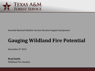 Gauging Wildland Fire Potential