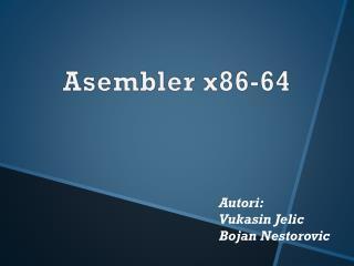 Asembler  x86-64
