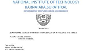 NATIONAL INSTITUTE OF TECHNOLOGY KARNATAKA,SURATHKAL