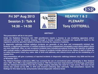 HEAPHY 1 & 2 PLENARY Tony COTTERILL
