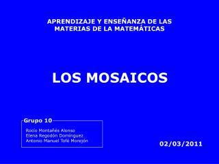 APRENDIZAJE Y ENSE ANZA DE LAS MATERIAS DE LA MATEM TICAS