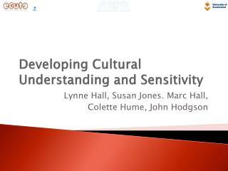 Developing Cultural Understanding and Sensitivity
