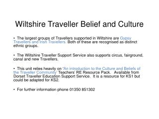 Wiltshire Trave ller Belief and Culture