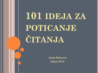 101 ideja za poticanje čitanja