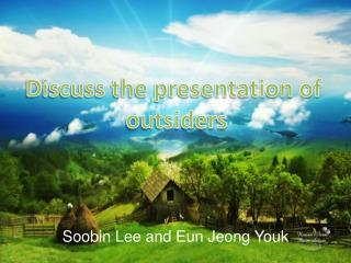 Soobin Lee and  Eun Jeong Youk