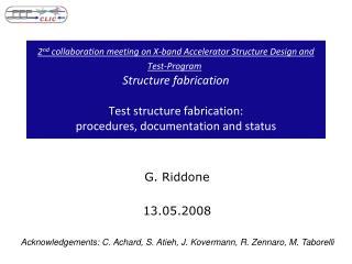 G. Riddone 13.05.2008