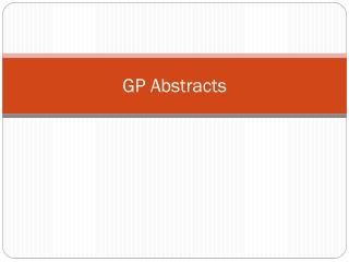 GP Abstracts