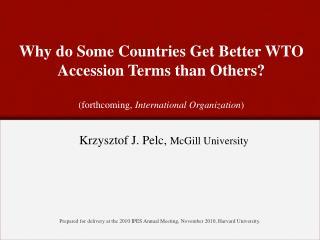 Krzysztof J.  Pelc,  McGill  University