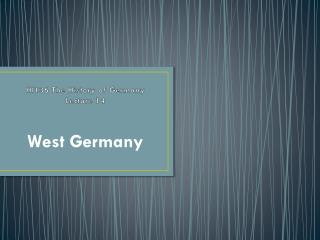HI136 The History of Germany Lecture  14