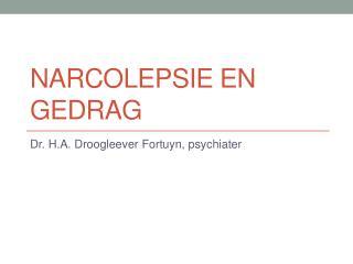 Narcolepsie en Gedrag