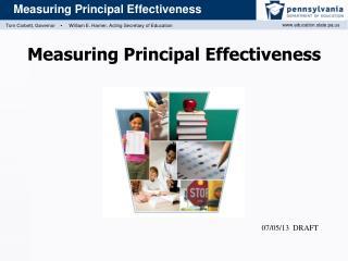 Measuring Principal Effectiveness