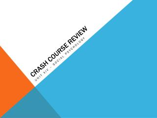 Crash Course Review