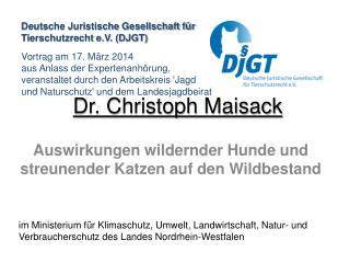 Dr. Christoph Maisack