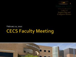 CECS Faculty Meeting