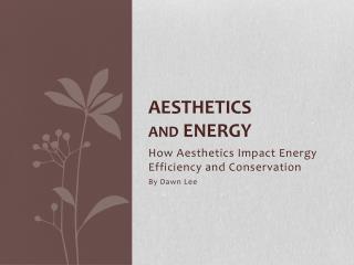 Aesthetics  and  energy