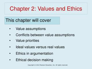 Chapter 2: Values and Ethics