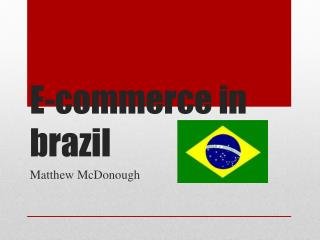 E-commerce in brazil