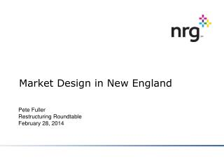 Market Design in New England
