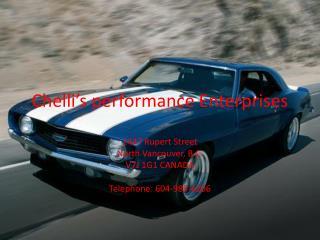 Chelli's  performance  E nterprises