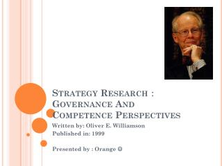 Strategy Research :  Governance And Competence Perspectives
