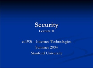 Security Lecture 11