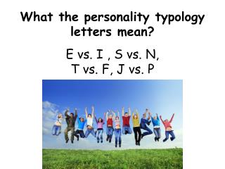 What the personality typology letters mean?