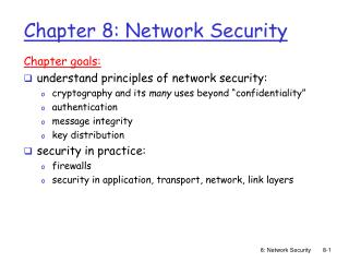 Chapter 8: Network Security