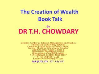 The Creation of Wealth  Book Talk
